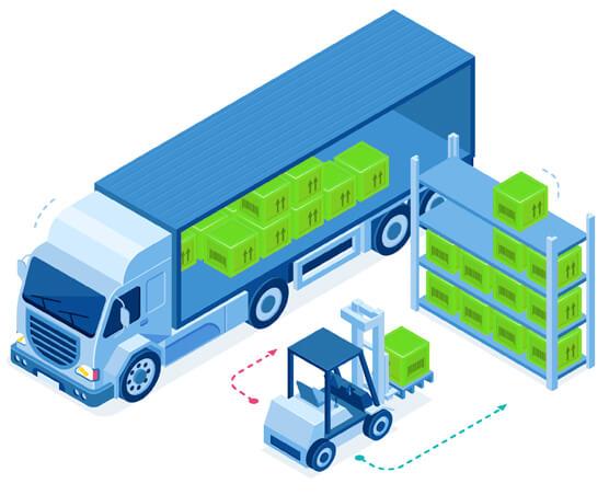 Moser Spedition Logistik Illustration